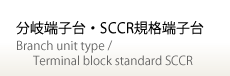 分岐端子台.SCCR規格端子台 / Branch unit type/Terminal block standard SCCR